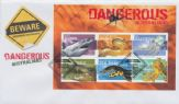 03/10/2006 Australia FDC Dangerous Australians Miniature Sheet